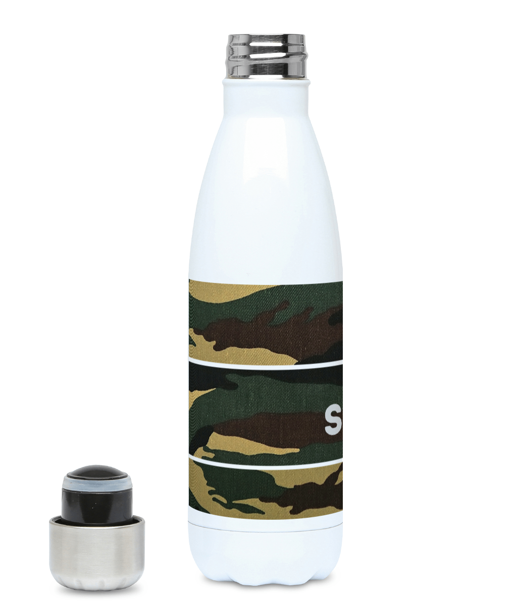 Personalised Green Camo Hydro Flask
