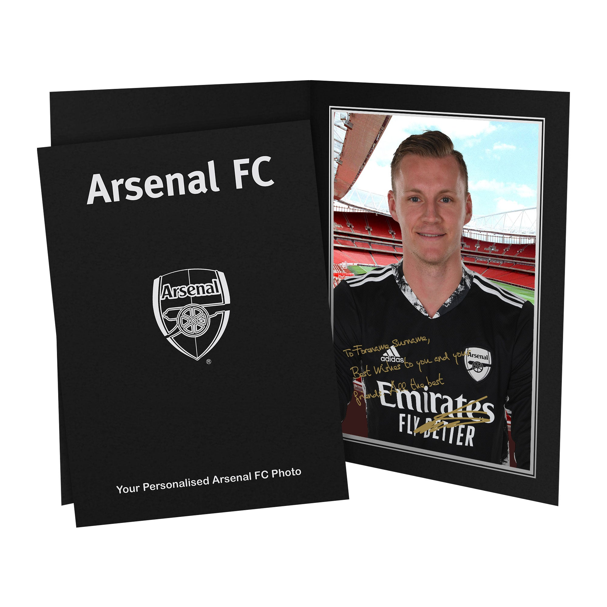Arsenal FC Leno Autograph Photo Folder
