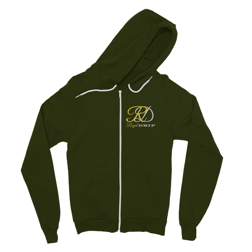 RoyalDrip Signature Customised Double sided print Zip Hoodie
