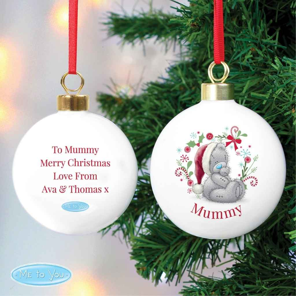 Personalised Me To You Christmas Bauble