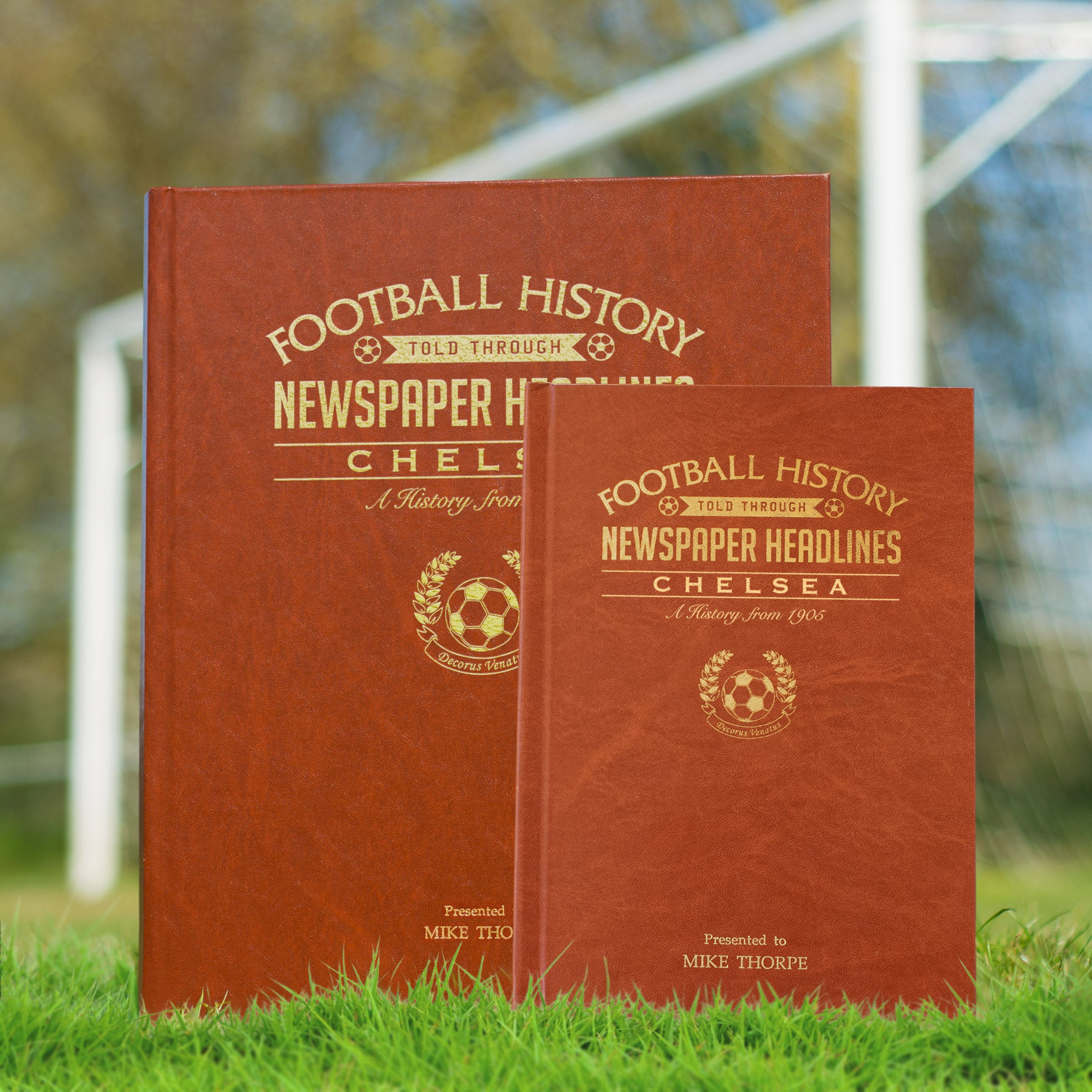 Chelsea Football Newspaper Book - A4 Brown Colour Leatherette