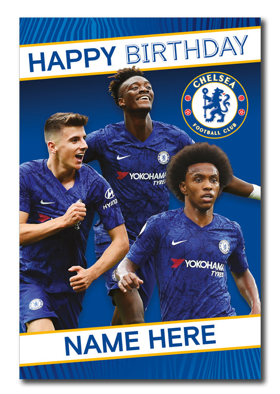 Chelsea Official Personalised Player Birthday Card