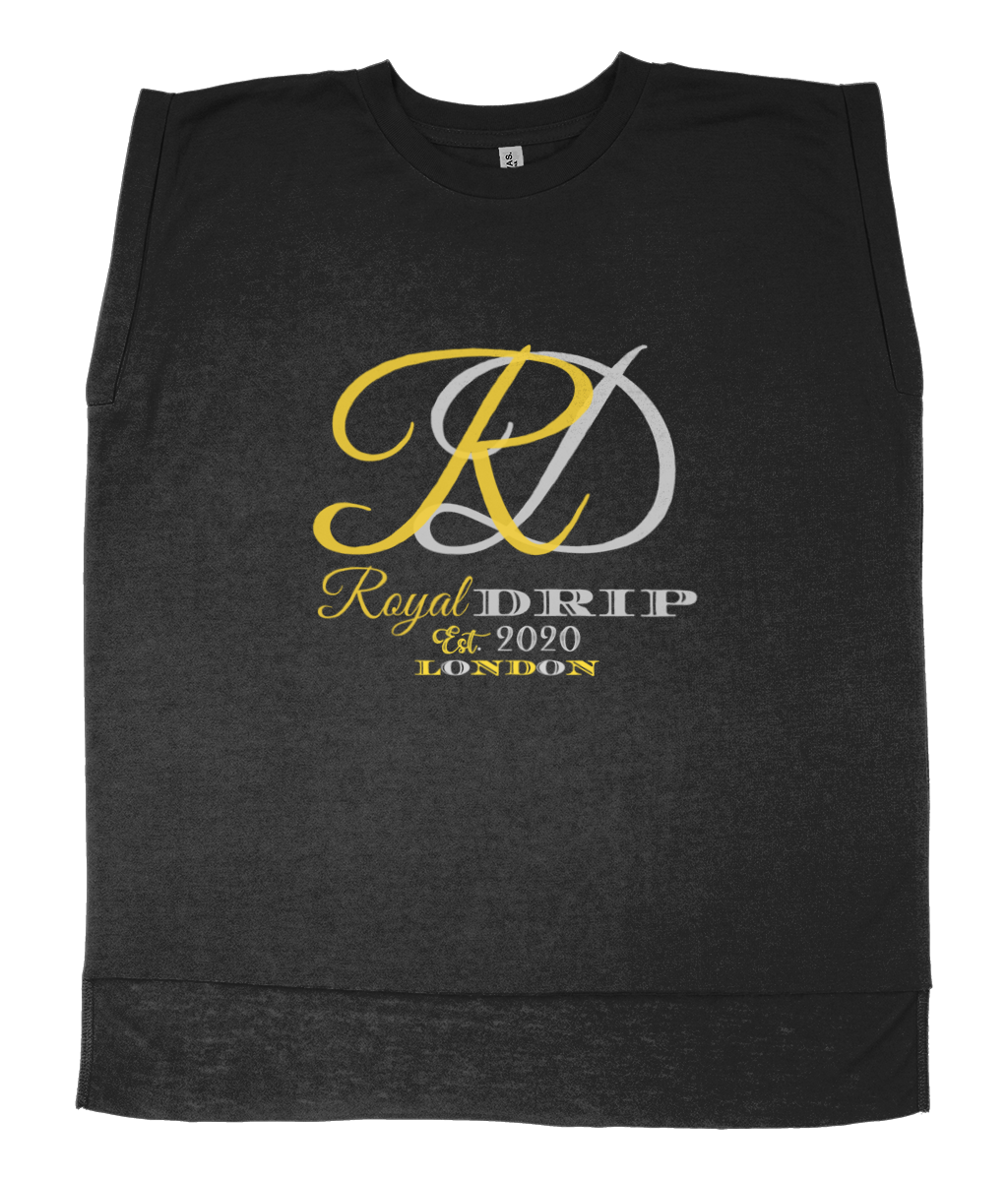 RoyalDrip Signature Ladies Flowy Rolled Cuff Muscle T-Shirt