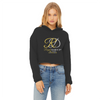 RoyalDrip Signature Cropped Raw Edge Hoodie - Slim Fit