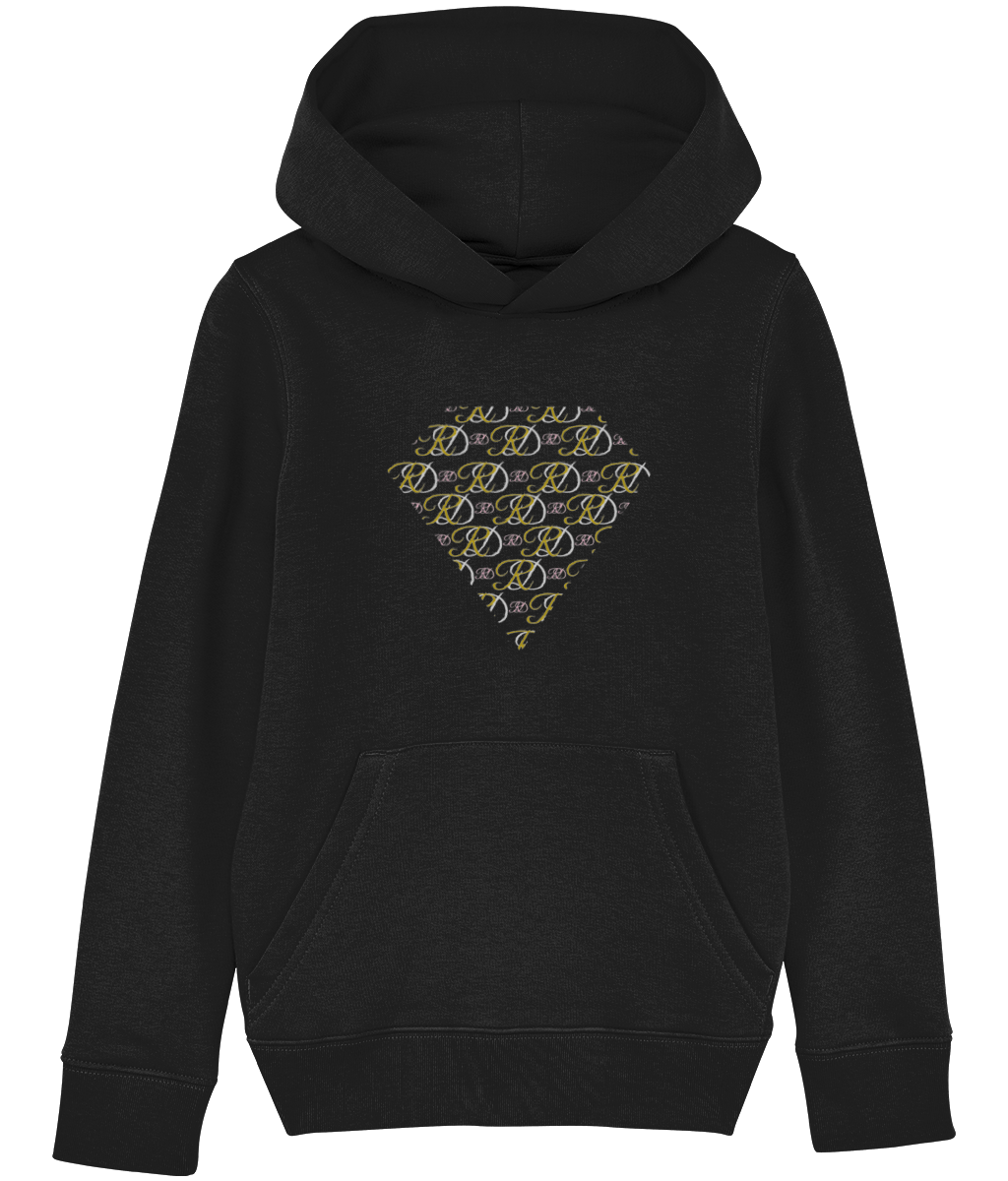 RoyalDrip Diamond Monogram Unisex Kids Hoodie