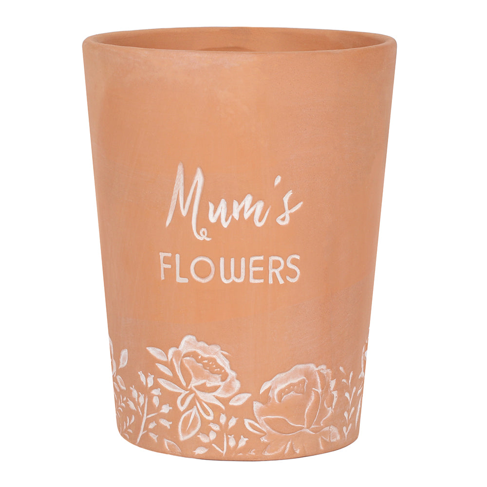 'Mum's Flowers' Terracotta Plant Pot