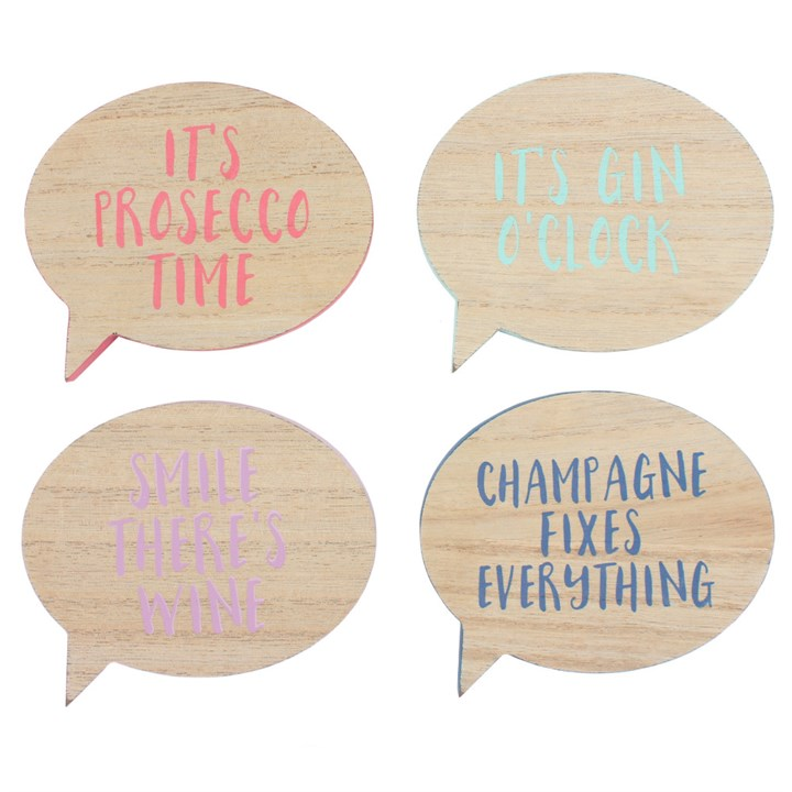Set of 4 Assorted Drinking Coasters