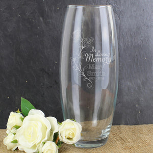 Personalised In Loving Memory Glass Vase