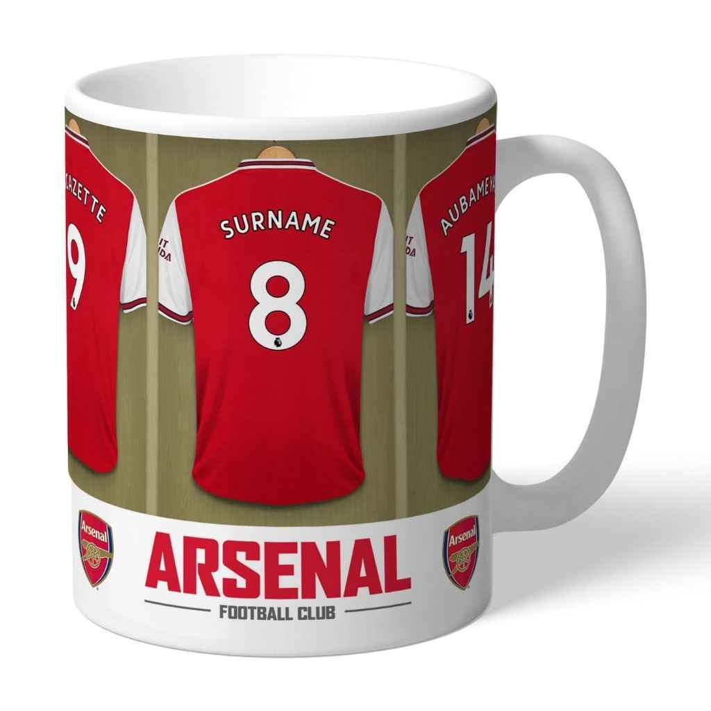 Personalised Arsenal Football Club Dressing Room Mug