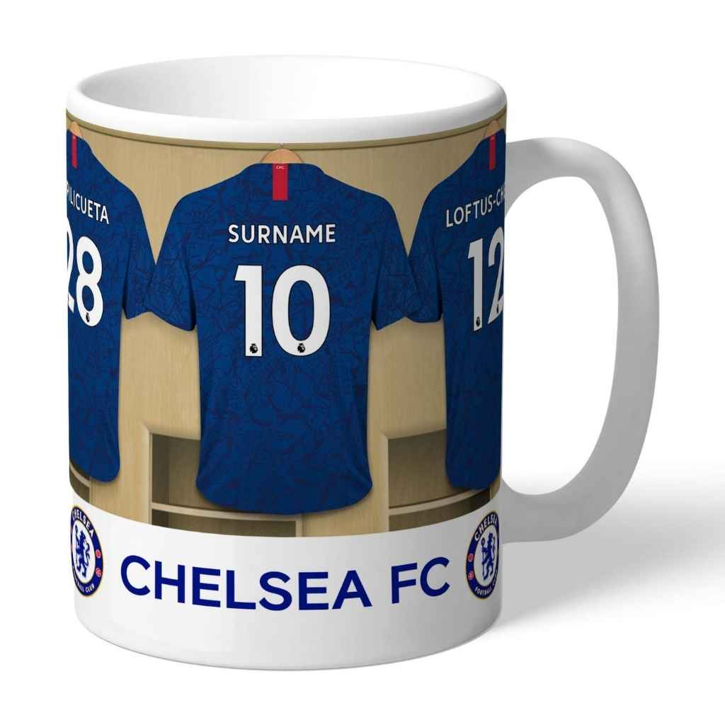 Personalised Chelsea Football Club Dressing Room Mug