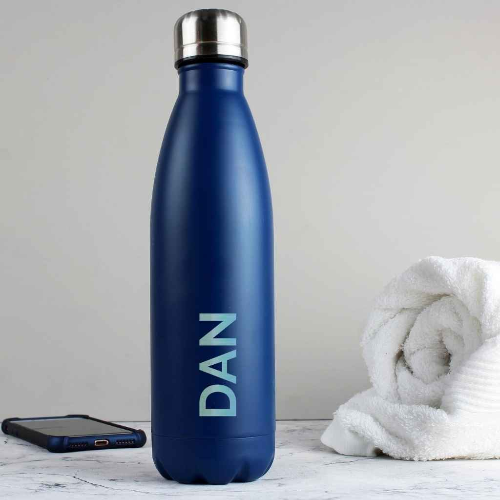 RD Hydrate - Personalised Blue Matte Hydro Flask
