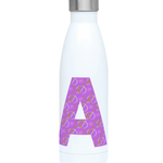 RD Monogram - Purple Initial Hydro Flask