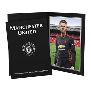 Manchester United FC De Gea Autograph Photo Folder