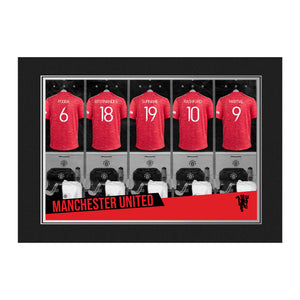 Manchester United FC 9x6 Dressing Room Photo Folder