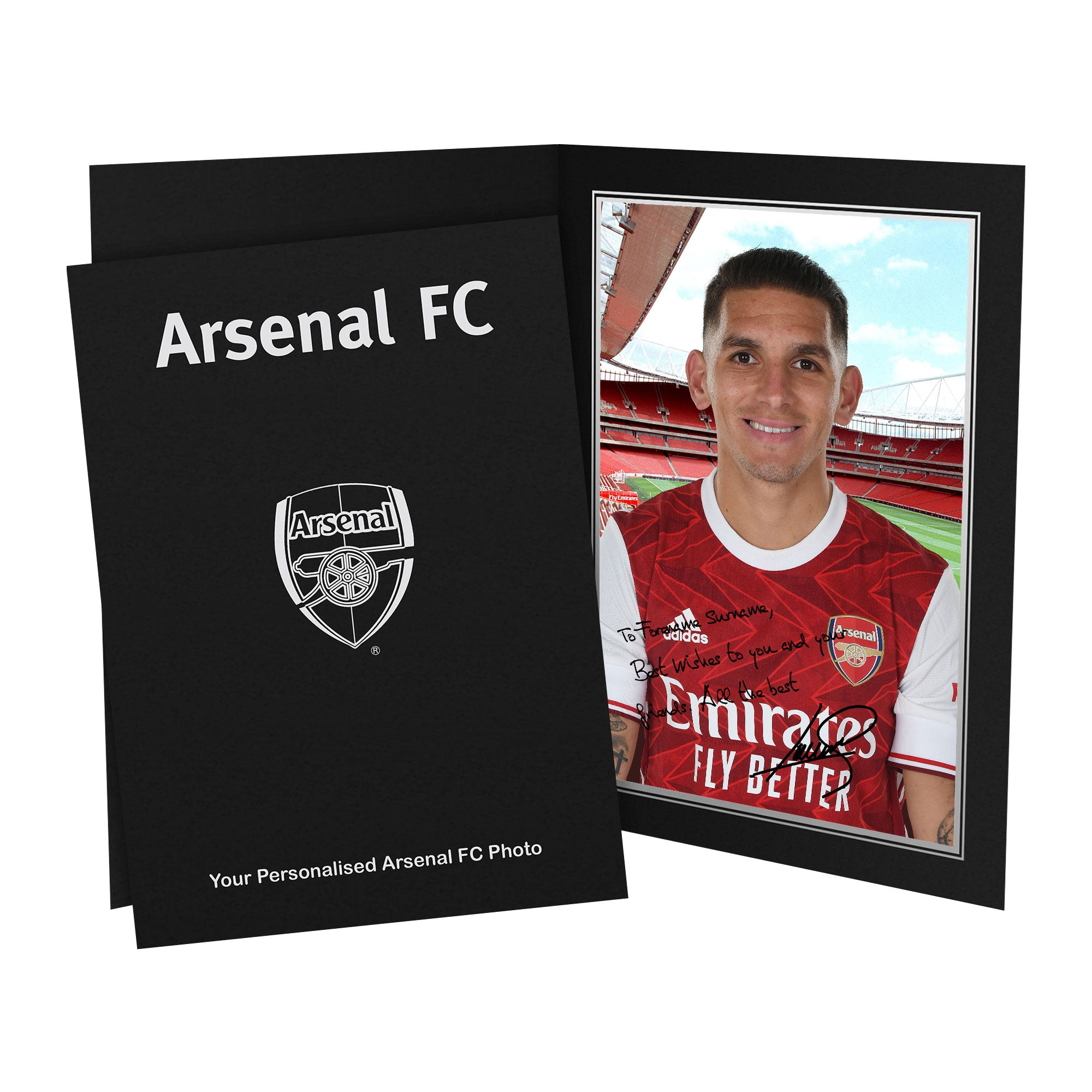 Arsenal FC Torreira Autograph Photo Folder