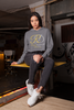 RoyalDrip Signature Cropped Raw Edge Boyfriend Hoodie