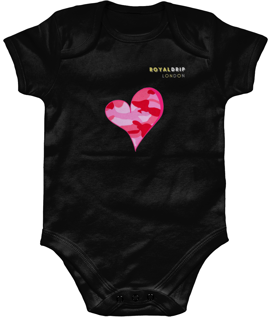 Baby Body Suit - Pink Heart Camo