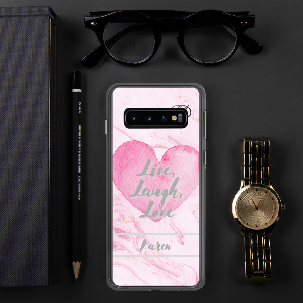 Personsalised Samsung Case - RD Pink Marble