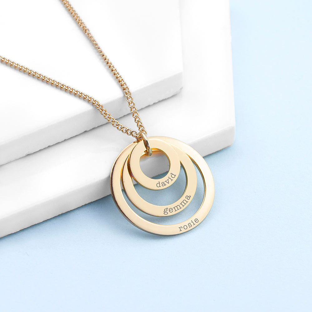 Personalised 3 rings Necklace.
