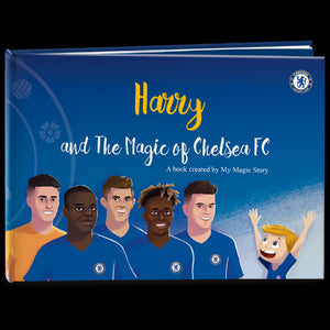 Personalisable hard cover Chelsea children book. Boy. Choose your kid's illustration!