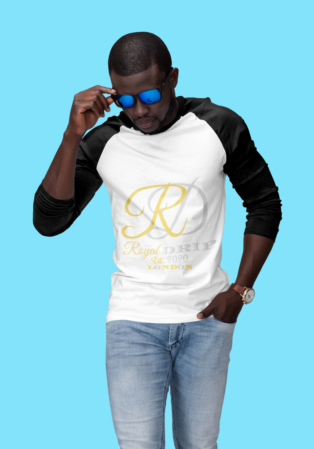 RoyalDrip Signature Classic Raglan Long Sleeve Shirt