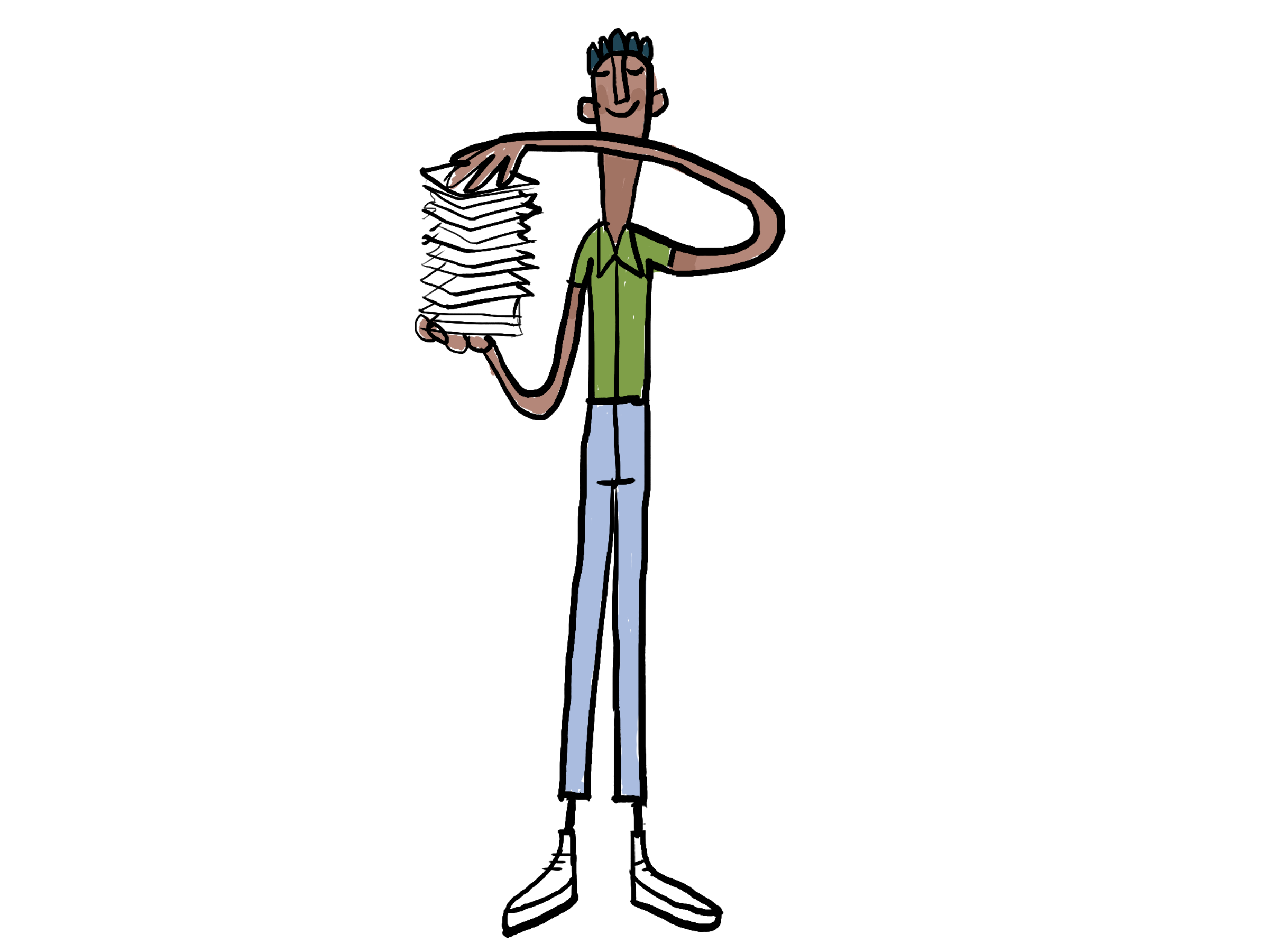 Charlie character in career page