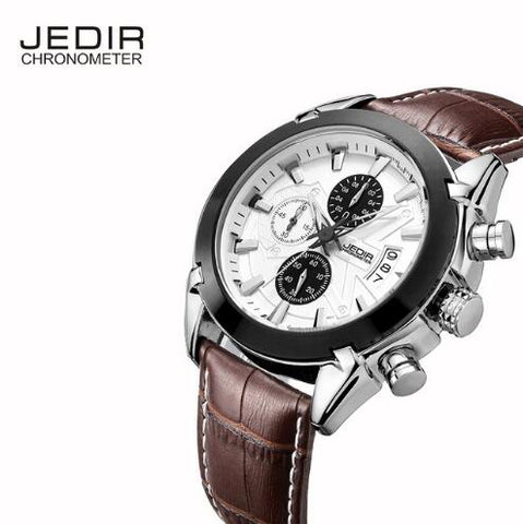 Men's Motor Sport Chronograph Watch Leather Strap