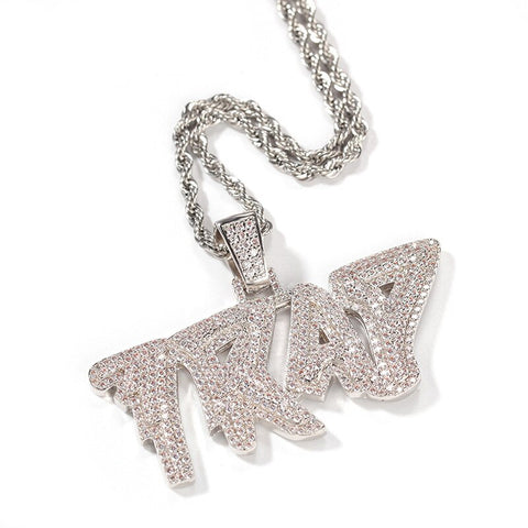 Iced Out TRAP Pendant Necklace