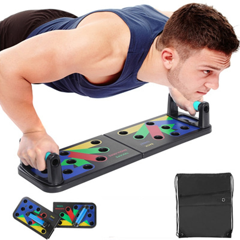 9 in 1 Push Up Rack Board Home Gym Tool Exercise Fitness Equipment push-up-rack Board Workout Body Building Sports push-up Rack