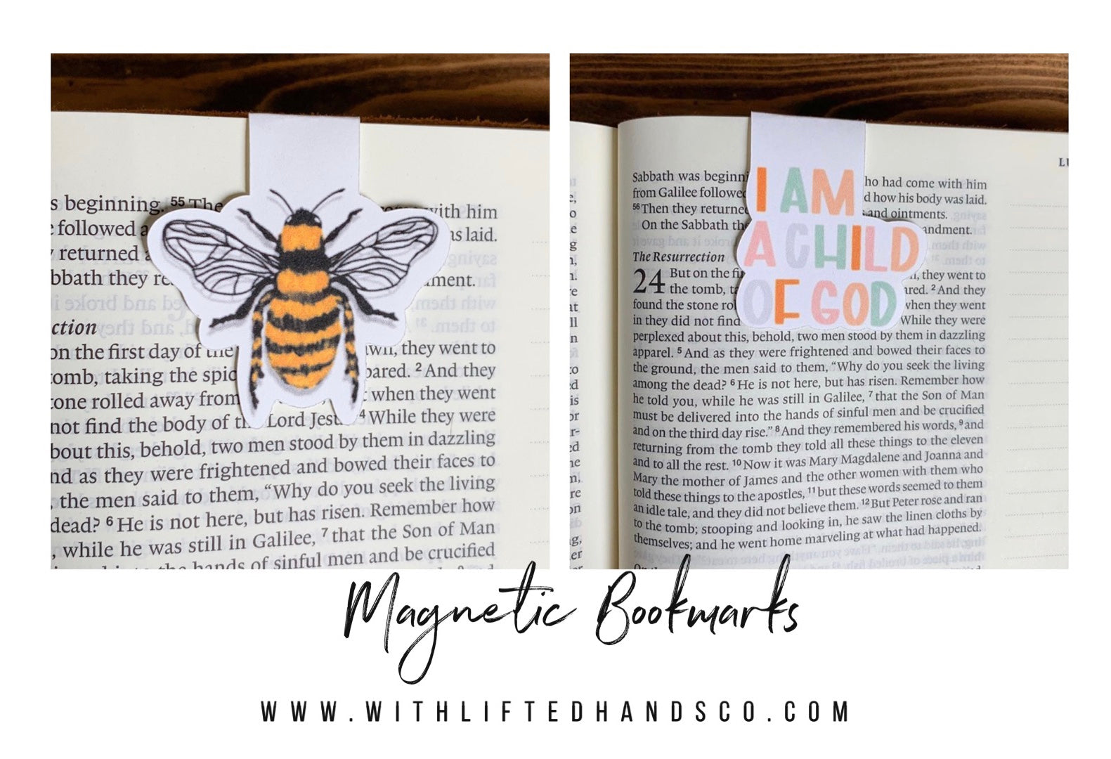 Magnetic Bookmarks by with lifted hands co