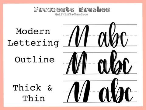 Procreate Brushes for iPad lettering