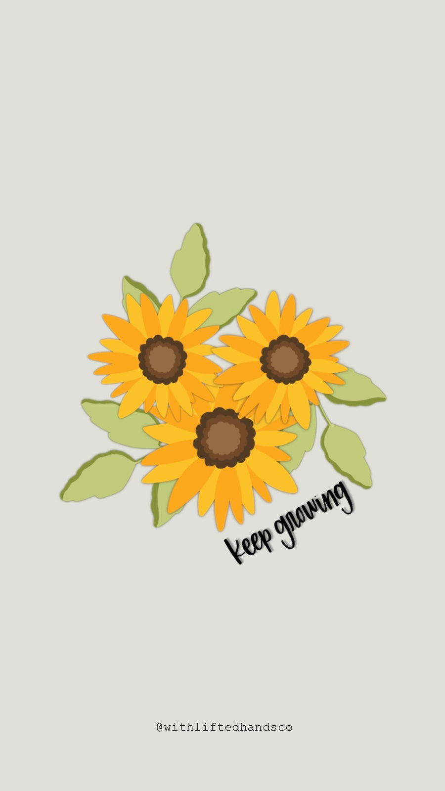Sunflower phone wallpapers by with lifted hands co