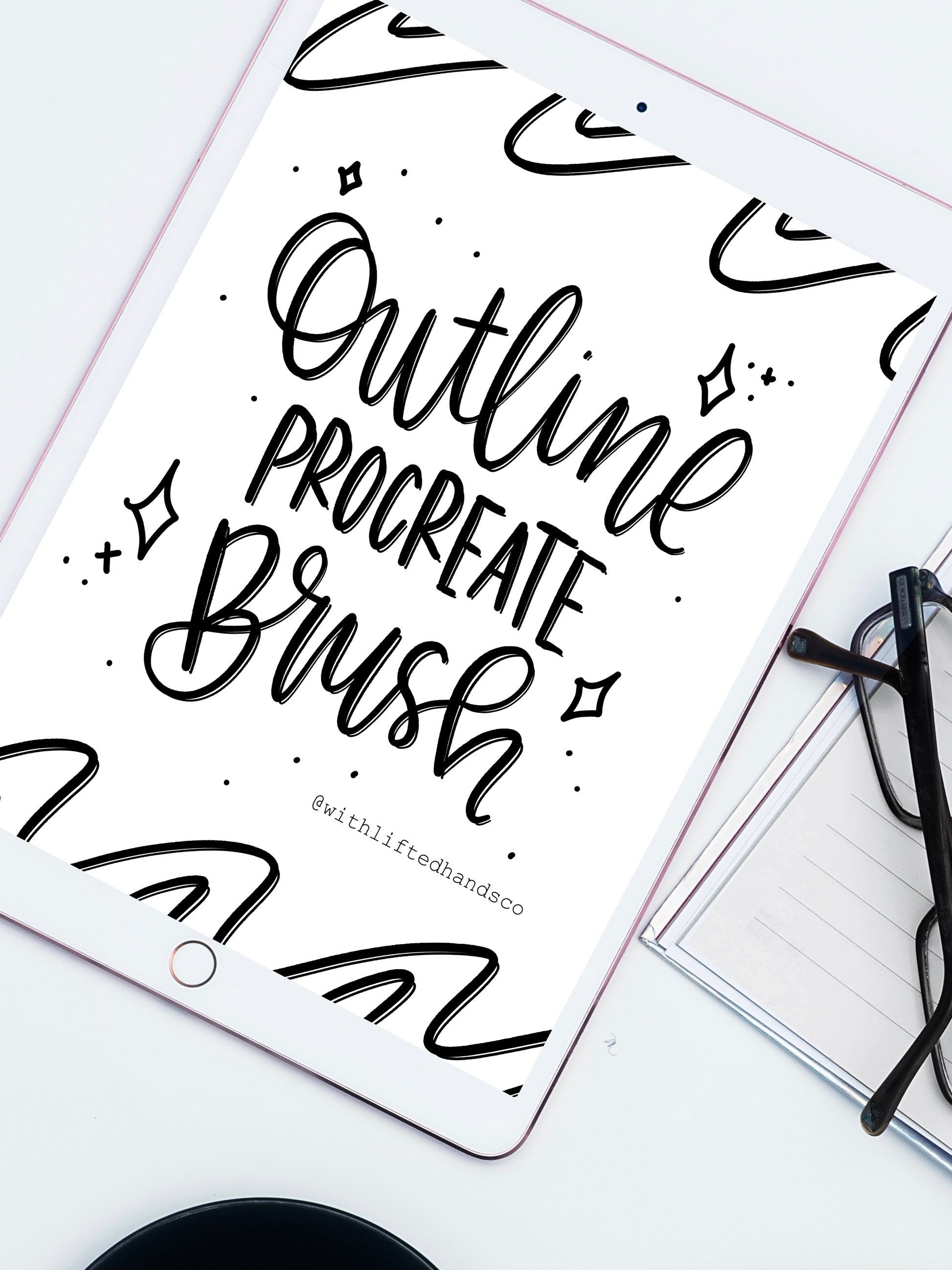 Outline procreate brush by with lifted hands co