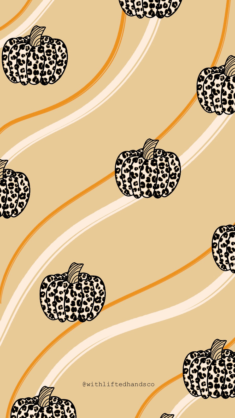 Leopard pumpkin phone wallpapers by with lifted hands co