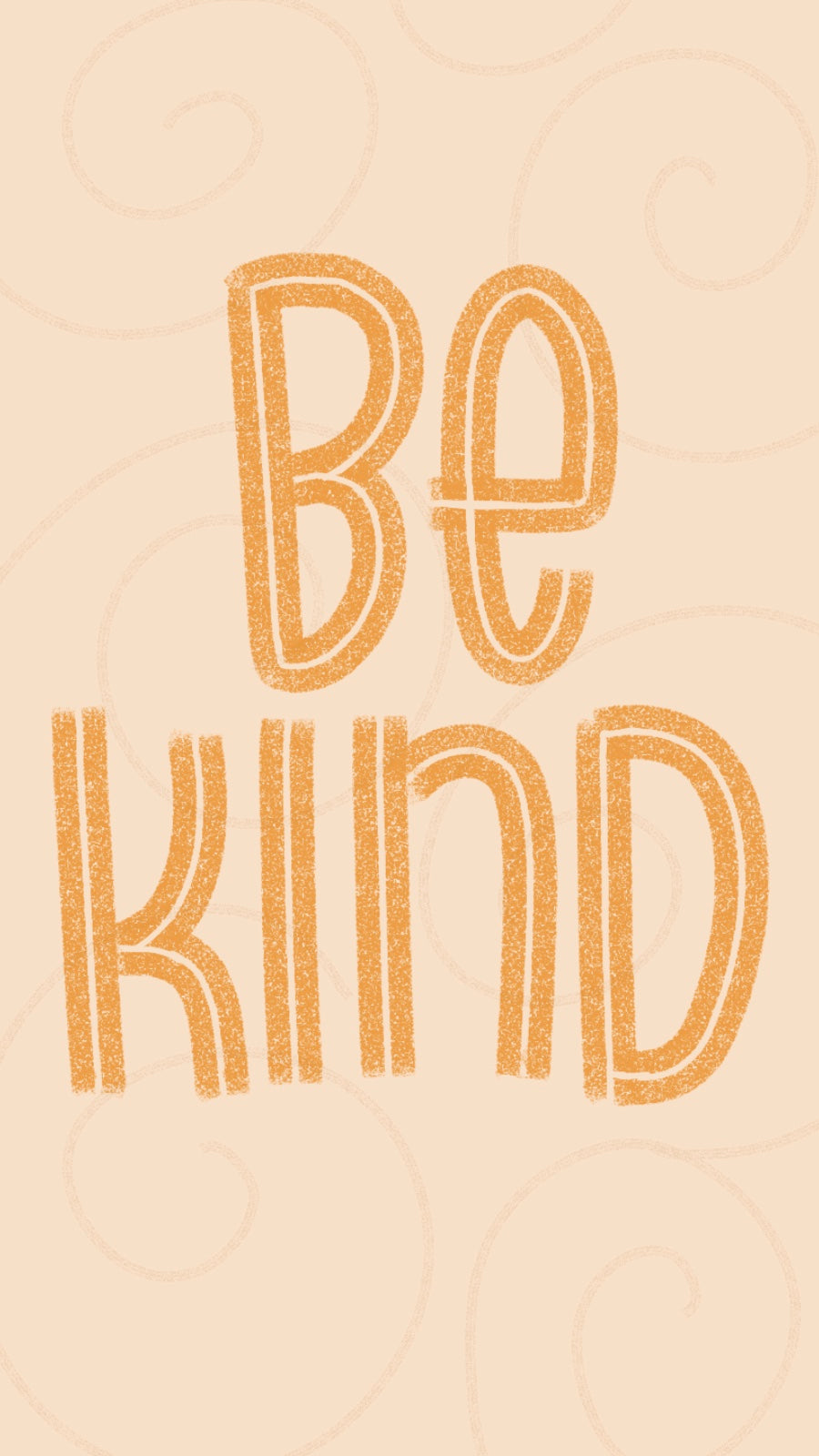 Yellow Be Kind Design for Phone Wallpaper