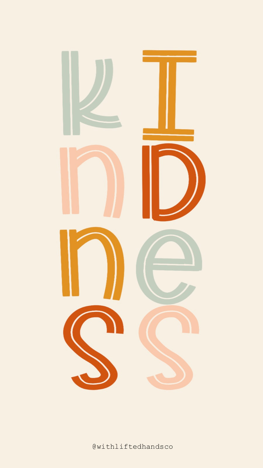 Kindness Colorful wallpaper
