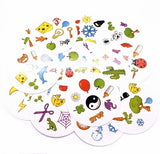 Paper Dobble Family Party Entertainment Spot Board Game Icon Match 55 cards/set metal box English