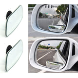 1Pair Blind Spot Mirror, Newest Upgrade HD Glass Frameless Convex Wide Angle Rear View Mirror For All Universal Vehicles Car SUV HD Glass Convex Lens Frameless Adjustable Blind Spot Mirror for All Universal Vehicles Car Stick-on Design