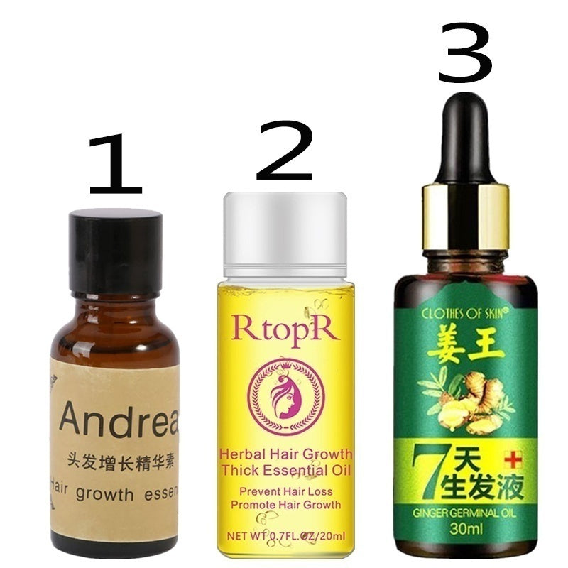 Say goodbye to hair loss! Chinese herbal fast hair growth essential oil  recommend 1+2+3