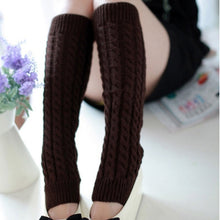 Load image into Gallery viewer, Womens Fashion Winter Knit Crochet Knitted Leg Warmers Legging Boot Cover