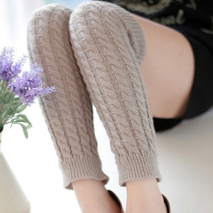 Womens Fashion Winter Knit Crochet Knitted Leg Warmers Legging Boot Cover