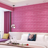 Pack of 10 3D Brick Pattern Wallpaper Wall Background Bedroom Living Room Decor Stickers (Size:60*30cm)