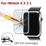 3D Full Coverage 9H Ultra Thin Tempered Glass Screen Protector Film Cover For iWatch 38MM/42MM/40MM/44MM