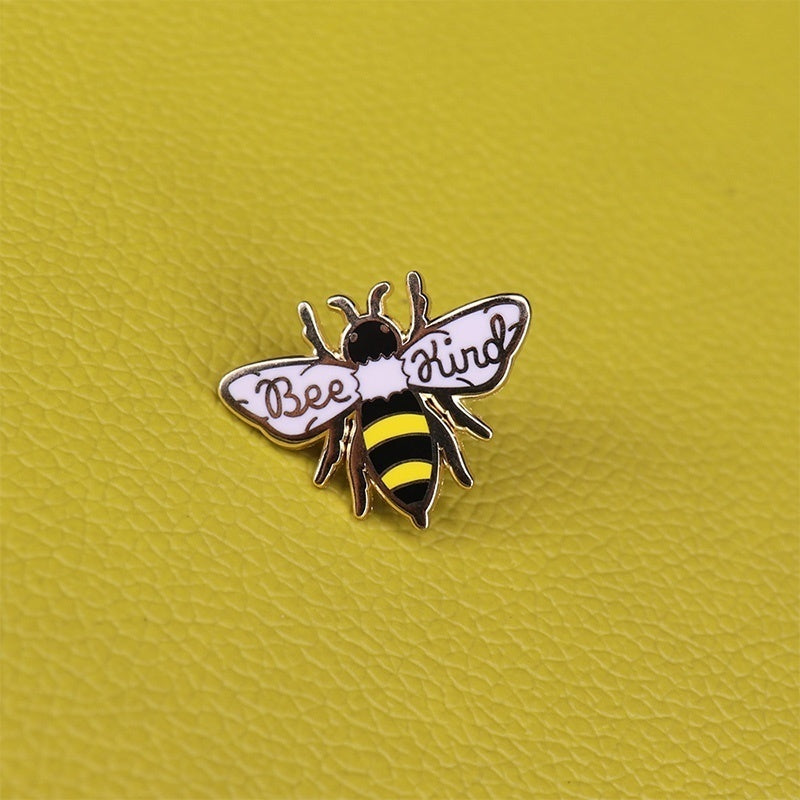 Bee Kind Enamel Pin Cute Honey Bee Badge Be Kind Pin Aesthetic Pins Animal Button Lapel Pins