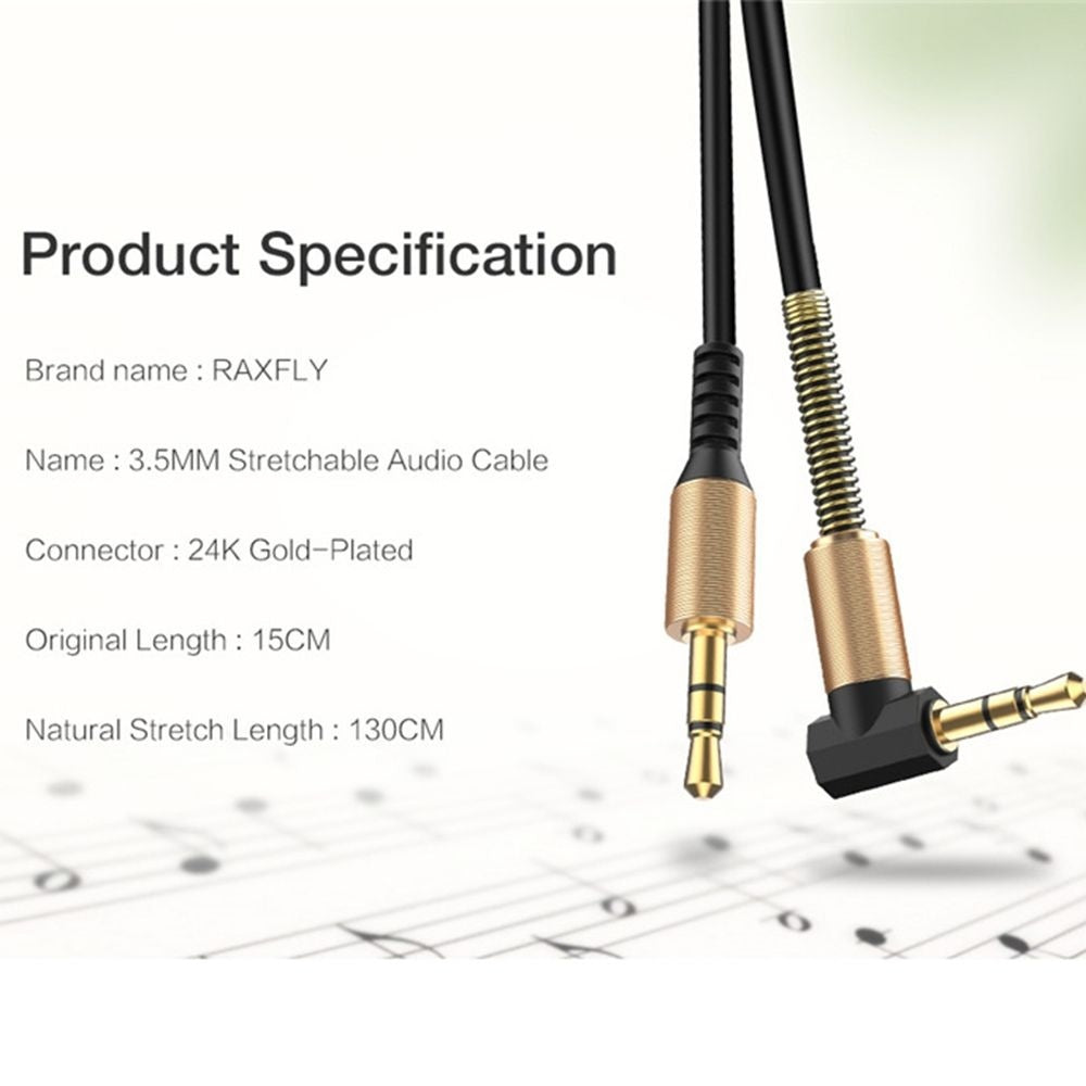 Coiled High Quality 90 Degrees For Car PC Jack 3.5mm Male To Male Auxiliary Accessorise AUX Audio Cable Cord