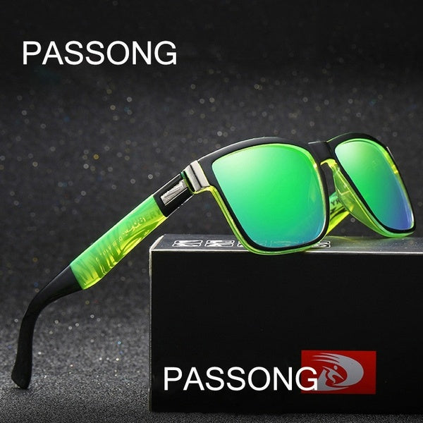 PASSONG Brand Design Men HD Polarized Sunglasses Women Sport Driving Cycling Goggles Eyewear Classcis Vintage Fishing Eyewear Oculos Gafas 7colors