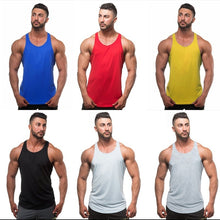 Load image into Gallery viewer, Men Gym Tank Tops Summer Fashion Cotton Soild Color Fitness Bodybuilding Muscle Vest Sleeveless T Shirt