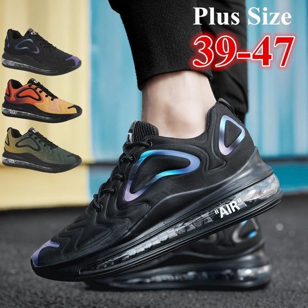 Mens Air Cushion Running Tennis Shoes Fashion Lightweight Breathable Casual Walking Sneakers Gym Athletic Jogging Shoes for Men Plus Size 39-47