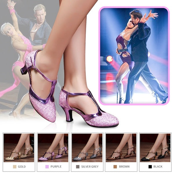 Fashion Women Ballroom Tango Salsa Latin Dance Shoes Party Heels 5.5cm Heels