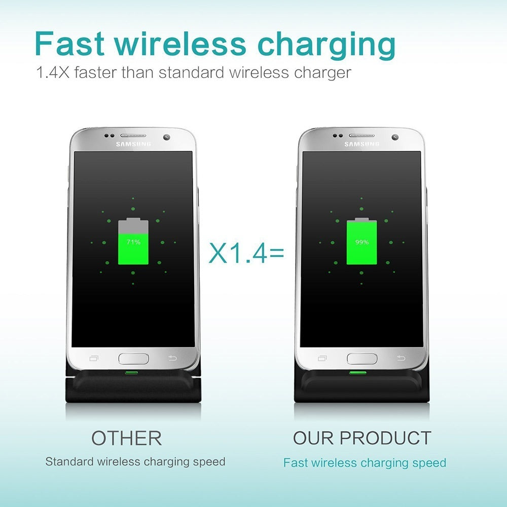 FDGAO 10W QI Wireless Charger Fast Wireless Charging Mobile Phone Charger Dock for IPhone X/XS/XR/8p/8 Samsung S10/S9/S8/S7